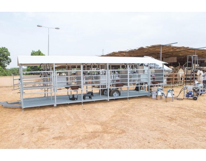 Melžimo įranga Afrikos pieno ūkiams