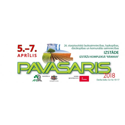 Balandžio 5-7 d. kviečiame aplankyti mūsų stendą parodoje Latvijoje