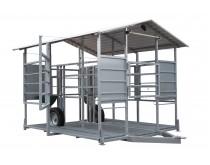 Mobili melžimo aikštelė MOTECH2 su pusiau automatine plovykla
