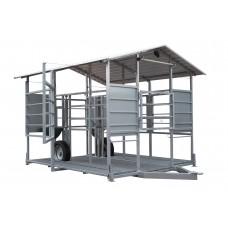 Mobili melžimo aikštelė MOOTECH2 su pusiau automatine plovykla