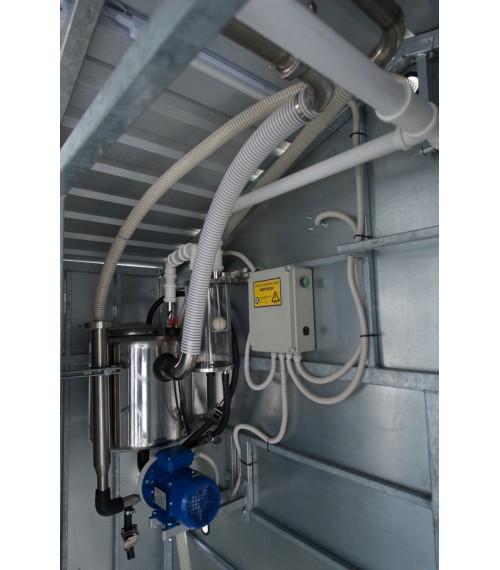 Mobili melžimo aikštelė MOTECH4 su 40 L pieno kolba ir įrangos patalpa