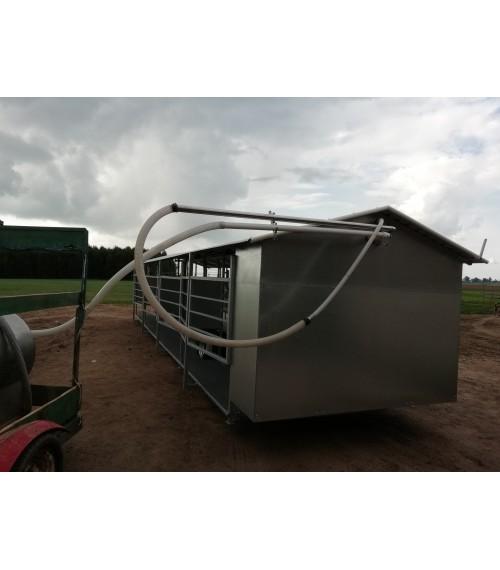 Mobili melžimo aikštelė MOOTECH8 su 40 L pieno kolba ir įrangos patalpa