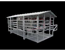 Mobili melžimo aikštelė MOTECH4 su pusiau automatine plovykla