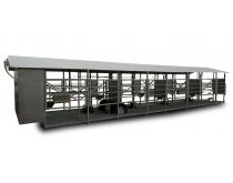 Mobili melžimo aikštelė MOOTECH8 su pusiau automatine plovykla ir įrangos patalpa