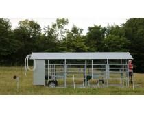 Mobili melžimo aikštelė MOTECH4 su pusiau automatine plovykla ir įrangos patalpa