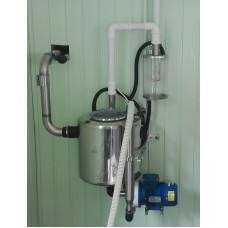 Nerūdijančio plieno 40 L pieno kolbos komplektas