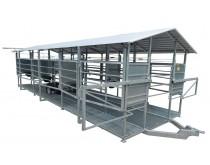 Mobili melžimo aikštelė MOTECH6 su pusiau automatine plovykla